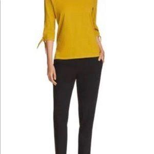 Eileen Fisher Pants - Eileen Fisher Petite Slim Linen Ankle Black Pants